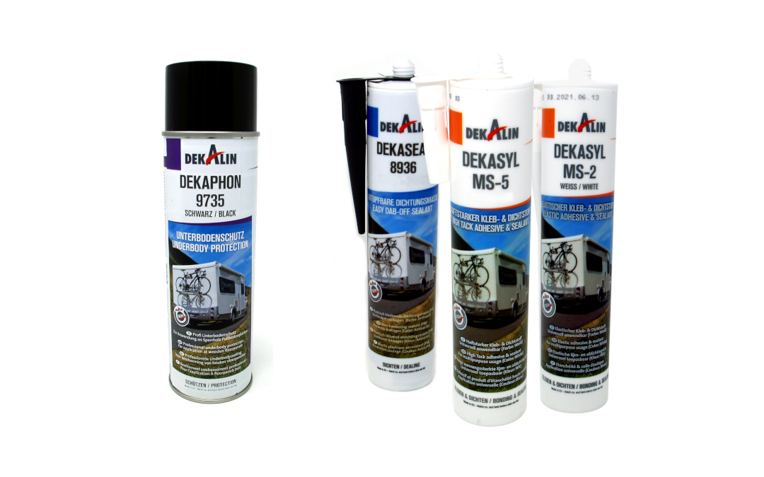Dekalin Sealing Compound, Adhesive & Underbody Protection now available
