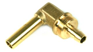 DREHMEISTER 90° Angle Piece Pipe Socket 8mm for Flexible Gas Hose 8mm