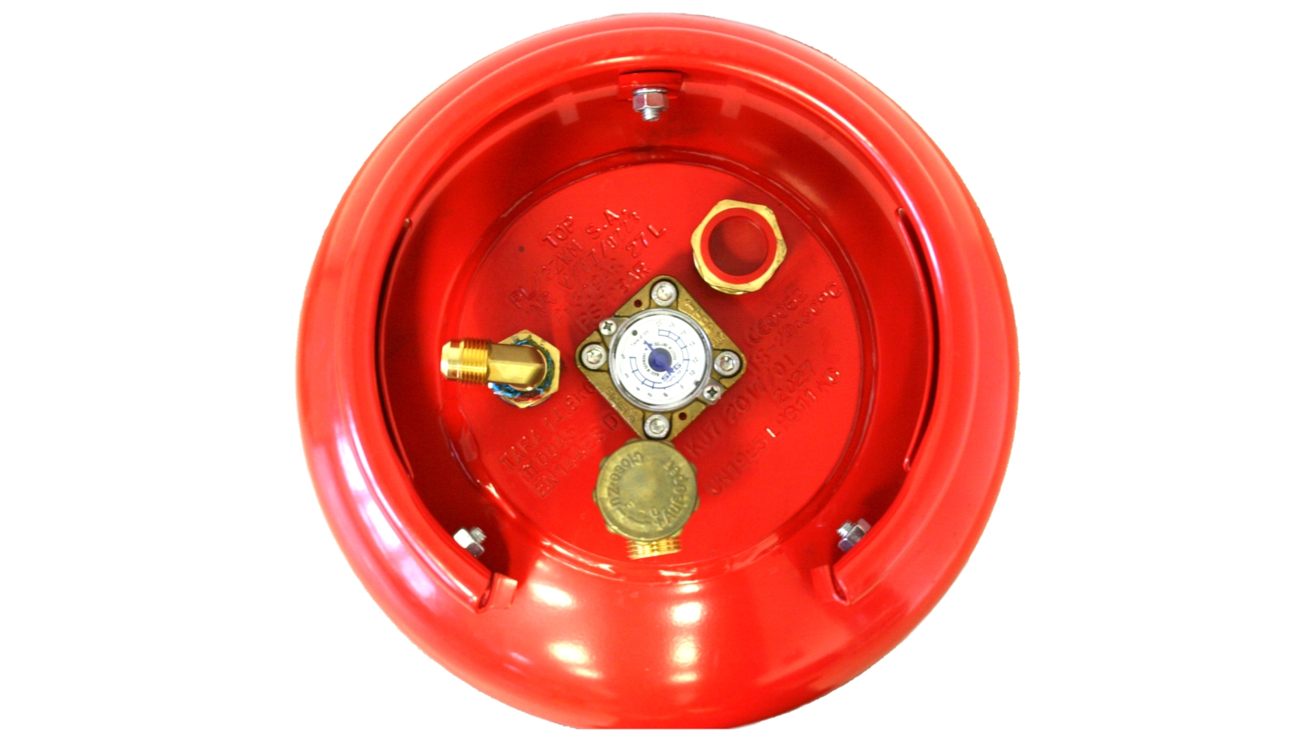 GZWM gas cylinder 36 litres with 3-point valve