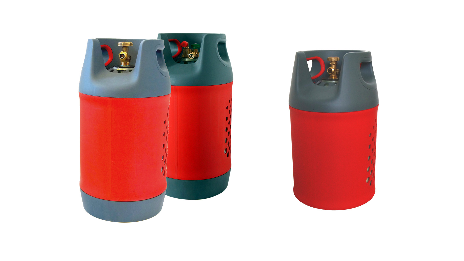 Composite gas cylinders