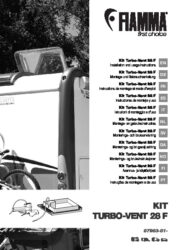 Installation and instruction manual Kit Turbo-Vent 28 F