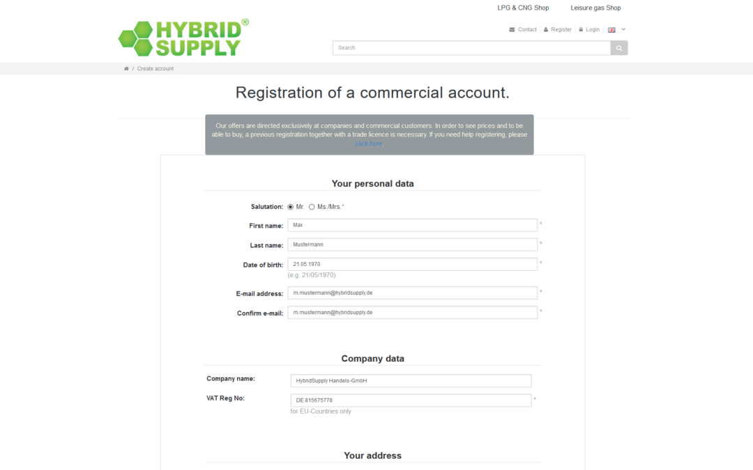 Help Video: Creating a Business Customer Account