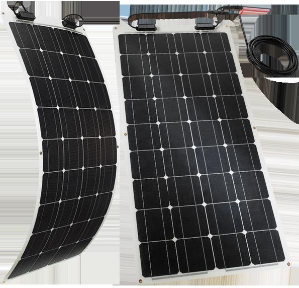 TELECO TSPF 110W – The flexible solar module for motorhomes, caravans & campers